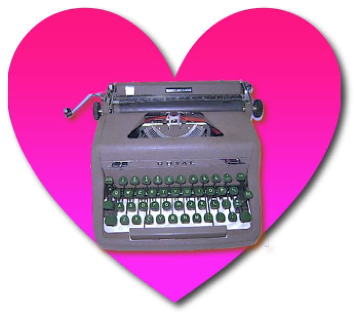 Royal Typewriter In Heart by Hailey Reede