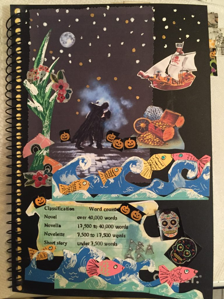 Notebook Cover of Hailey Reede Fall 2016; Romance in the Moonlight